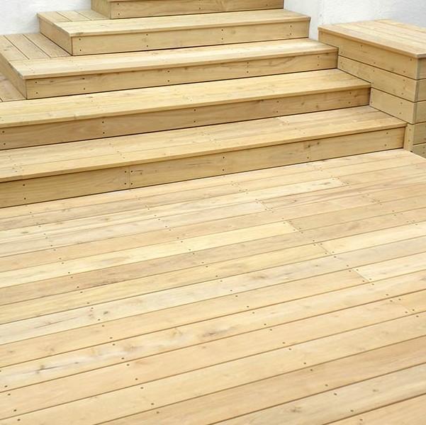 terrasse bois – robinier faux acacia – 20 x 100 mm | brun-buisson